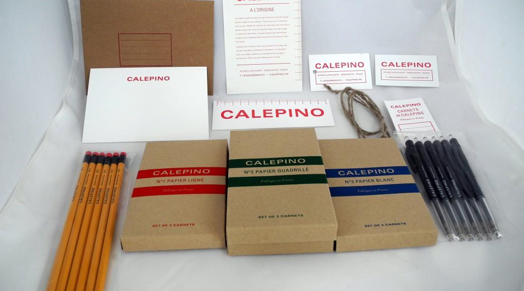 Set Calepino, uitgepakt