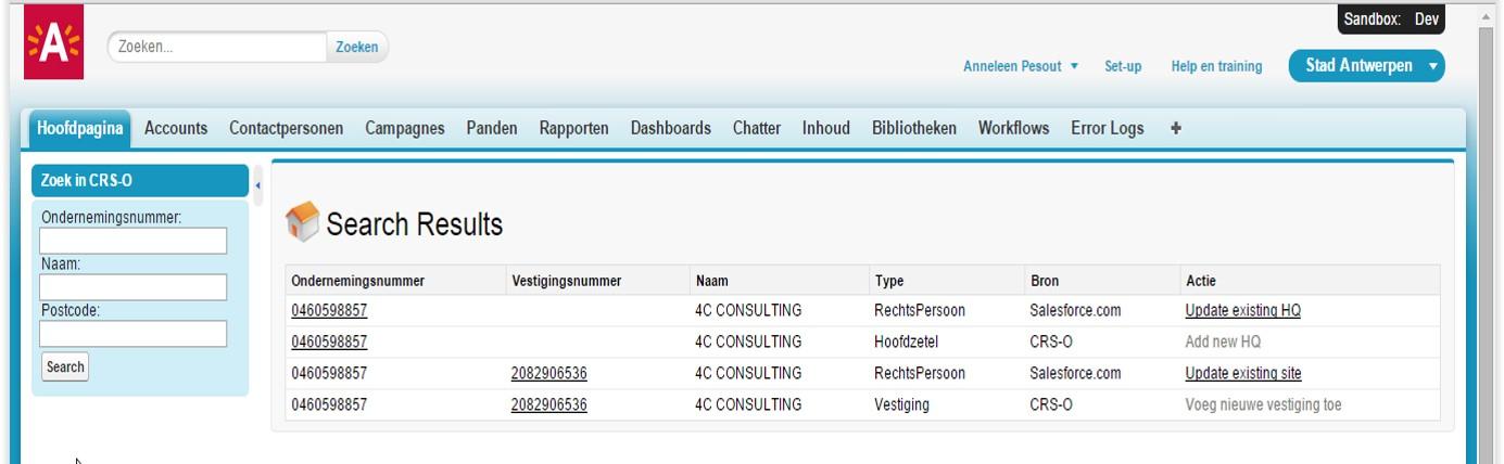 CRM B2B Antwerpen (Salesforce)
